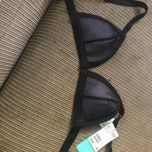Navy bathing suit bikini top brand new